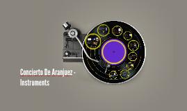 Concierto De Aranjuez - Instruments
