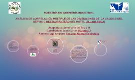ANALISIS DE CORRELACIÓN MULTIPLE DE LAS DIMENSIONES DE  LA C