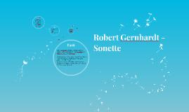 Robert Gernhardt - Sonett
