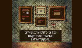 ESTABLECIMIENTO DE LOS OBJETIVOS Y METAS ESTRATÉGICAS.