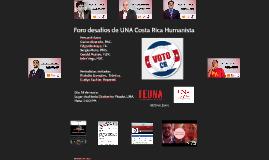 Foro desafios de UNA Costa Rica Humanista