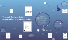 Copy of Types of Business Letters