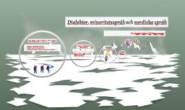 Dialekter, minoritetsspråk och nordiska språk