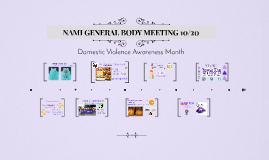 NAMI GENERAL BODY MEETING 10/20