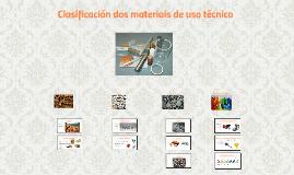 Clasificación dos materiais de uso técnico