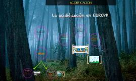Acidificación en EUROPA.