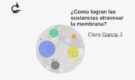 ¿Como logran las sustancias atravesar la membrana?