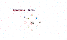 Eponyms:  Places