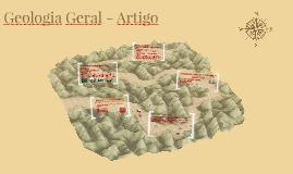Geologia Geral - Artigo