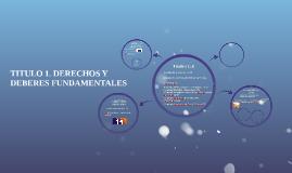 TITULO 1. DERECHOS Y DEBERES FUNDAMENTALES