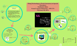 Copy of Using Technology for Math in Special Education