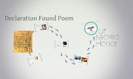 Declaration Found Poem