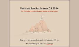 Vacature Studieadviseur, 24.25.14