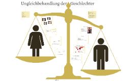 Ungleichbehandlung der Geschlechter