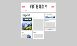 WHAT IS AN SLP?