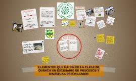 ELEMENTOS QUE HACEN DE LA CLASE DE QUÍMICA UN ESCENARIO DE P