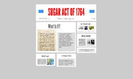 SUGAR ACT OF 1764