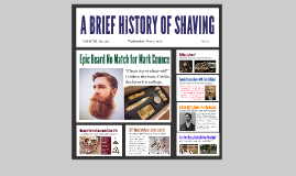 A BRIEF HISTORY OF SHAVING