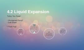 4.2.1 Liquid Expansion