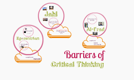 Essays on barriers to critical thinking