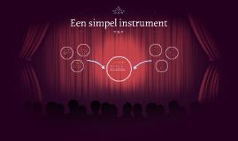 Een simpel instrument