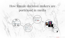How female decision makers are portrayed in media