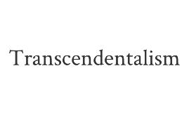 Transcendentalism (English 10)