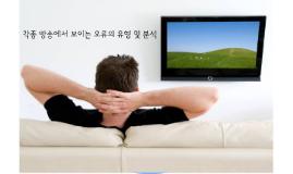 각종 방송에서 보이는 오류의 유형 및 분석