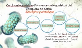 Calcioantagonistas-Fármacos antagonistas del conducto de cal