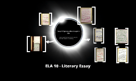 ELA 10 Literary Essay Photos