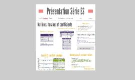 Copy of Présentation Série ES