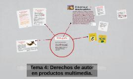 Derechos de autor en productos multimedia.