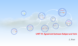 UNIT 41. Agreement between Subject and Verb
