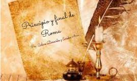 Principio y final de Roma