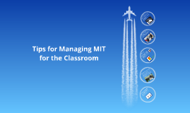 MIT Management Tips for the Classroom