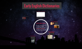 Early English Dictionaries