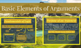 Basic Elements of Arguments