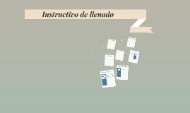 Instructivo de llenado Formatos