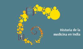 Historia de la mediina en India