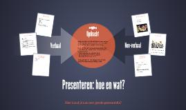 Presenteren: hoe en wat?