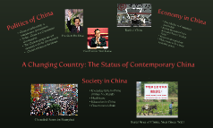 A Changing Country: The Status of Contemporary China