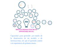 Copy of Modelo cognoscitivo social (Aprendizaje social)