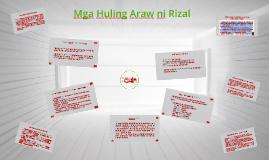 Copy of Mga Huling Araw ni Rizal